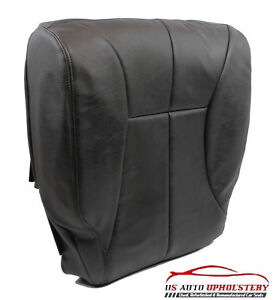 1998 1999 Dodge Ram Driver Side Bottom Synthetic Leather Seat Cover Dark Gray