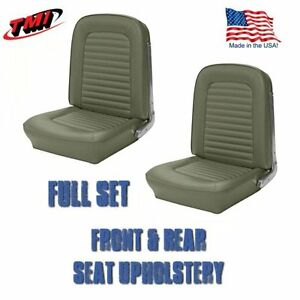 1964 1965 Mustang Front And Rear Seat Upholstery Ivy Gold By Tmi In Stock