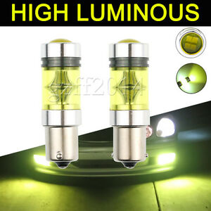 2pcs 4300k 1156 Ba15s 100w Led Fog Light Cree 2323 Led Drl Projector Bulb Yellow