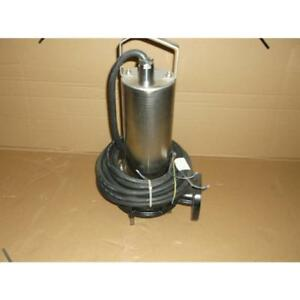 Wilo 6047417 2012w23 mts 40 165 5 4hp Submersible Sewage Grinder Pump 460 60 3