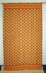 Old Traditional Fine Handwoven Cotton Textile Kente From Ghana Africa 1940 S