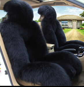 Genuine Australian Sheepskin Fur Car 1 Front Seat Cover Winter Universal M12b