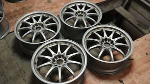 Rays Volk Racing Rims Ce28n Silver 19x8 5 5x114 3 43 Jdm From Japan