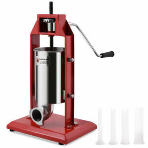 3l Vertical Sausage Stuffer Meat Maker Filler 7lb Stainless Steel Commercial New