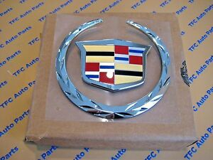 Cadillac Escalade Front Grille Emblem Badge Without Platinum Package 2007 2014