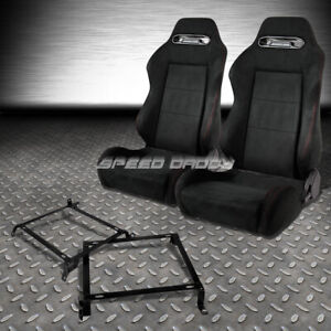 2x Suede Type r Reclinable Racing Seats bracket For Civic Ej ek eh integra Db Dc