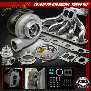 Gt45 5p Turbo Kit Turbocharger manifold wastegate For 86 92 Supra Mk 4 7m gte