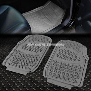 All Weather season Heavy Duty Abs Front Seats 3d Floor Mats Car truck suv Gray