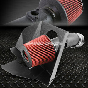 For 07 11 Camry 16 Venza V6 Wrinkle Finish Aluminum Cold Air Intake Heat Shield