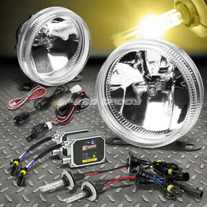 Clear Lens Universal Bumper Driving Fog Light Lamp Wiring Switch 3000k Hid Kit