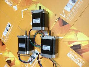 Longs Motor 3pcs Nema23 270oz Cnc 4leads Stepper Motor 3 0a 23hs8430