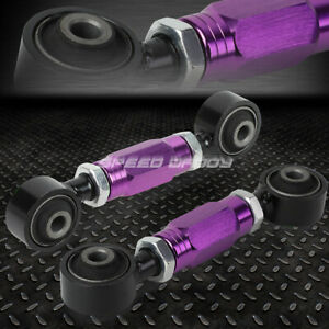 Adjustable Rear Lower Toe Camber Control Arm Kit 88 00 Civic crx del Sol Purple