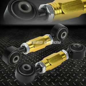 Adjustable Rear Lower Toe Camber Control Arm Kit 88 00 Civic crx del Sol dc Gold