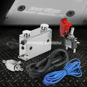 Silver Dual Stage Electronic Turbo turbocharger Psi Boost Controller w Switch