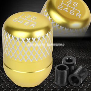 Jdm Netted Style Universal 42mm Racing Manual 6 Speed Mt Stick Shift Knob Gold