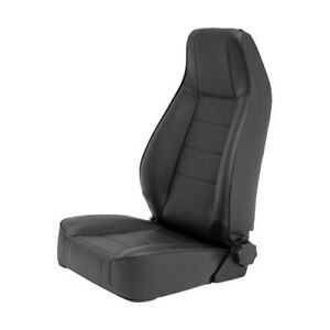 Reclining Front Seat For Jeep Cj Wrangler Yj Tj Jk Black Denim 45015 Smittybilt