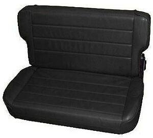 Smittybilt Fold And Tumble Rear Seat For Jeep Wrangler Tj 1997 2006 Black Denim