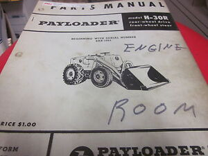 International Hough H 30r Pay Loader Parts Manual