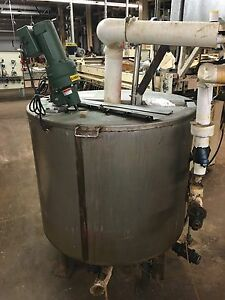 170 Gallon Stainless Steel Steam Jacketed Kettle Tank W Lightin Mixer Feldmeier
