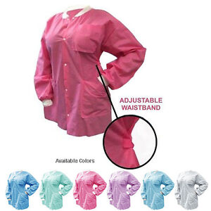 10 Disposable Jackets With Adjustable Waist Knit Cuffs Choose Color size