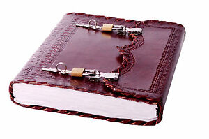 Handmade Leather Journal Diary Girl s Day Organizer Planner Actual Lock Key 10x7