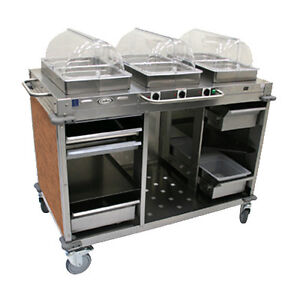 Cadco Cbc hhh l1 Electric Mobileserv Hot Food Buffet Cart