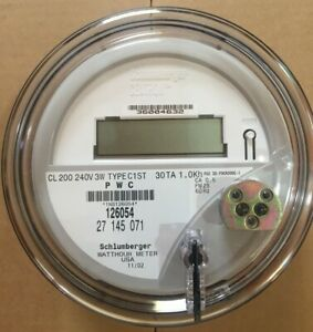 Itron Watthour Meter kwh C1st Centron 240 Volts Fm2s 200 Amps 4 Lugs