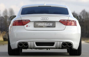 Audi A5 B8 2008 12 Rieger Brand Oem Rear Apron Spoiler New Pre facelift Version