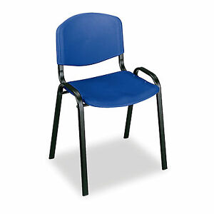 Stack Chairs Blue 4 Pk