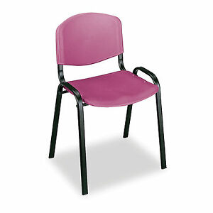 Stack Chairs Burgundy 4 Pk