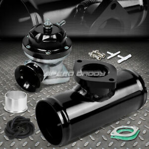 30 Psi Adjustable Turbo Blow Off Valve Type Rs 2 5 Flange Pipe Adaptor Black