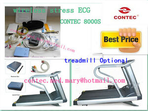 Contec8000s Wireless Stress Ecg ekg Analysis System exercise Stress Ecg Test hot