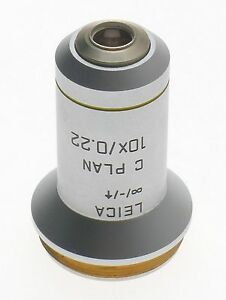C Plan 10x 0 22 Excellent Objective Lens 506075 Leica Dm Laboratory Microscope