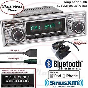 Retrosound Long Beach Cb Radio Bluetooth Ipod Usb Rds 3 5mm Aux In 308 309 Mb