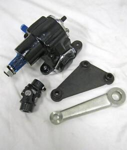 Vega Steering Gear Box Pitman Arm Mounting Bracket Kit W U Joint Street Rat Rod