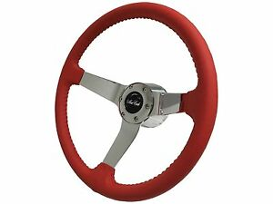 1970 1988 Chevy Monte Carlo Step Series Red Steering Wheel Chrome Kit