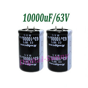 10000uf 63v High Quality Electrolytic Radial Capacitor Dip 30 50mm New 24pcs