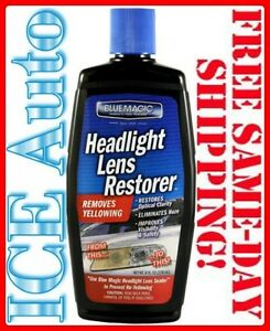 6 Pack Blue Magic 72506 Headlight Lens Restorer 8 Oz