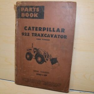 Cat Caterpillar 922 Wheel Loader Parts Manual Book 59a Catalog Front End 1961