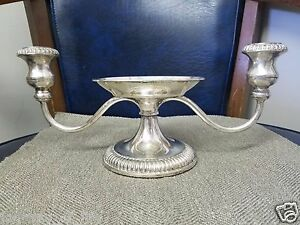 Vintage Silver Plated 3 Tier Candle Stick Taper Pillar Holder Candelabra Italy