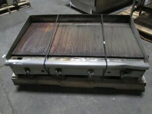 Imperial 48 Commercial Gas Char broiler Grill Ribbed Griddle Counter Top