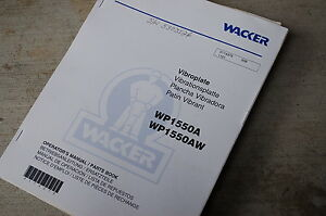 Wacker Wp1550a Wp1550aw Owner Operator Parts Manual Book Plate Catalog Spare