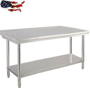 30 x 48 Stainless Steel Kitchen Work Food Prep Table Coffee Studio Commercial