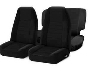 Front And Rear Neoprene Seat Covers Black For Jeep Wrangler Tj 97 02 471201