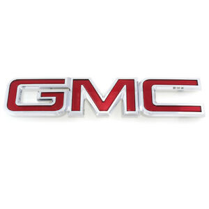 Oem New Front Grille Gmc Emblem Nameplate Chrome And Red 07 13 Yukon 22761717