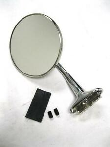 Stainless Universal Peep Mirror W 4 Long Arm Door Edge Chrome Street Rod