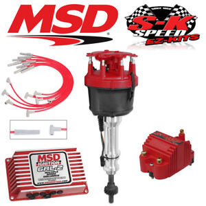 Msd 9166 Ignition Kit 6al 2 Distributor Wires Coil Ford 351w W Victor Jr Intake