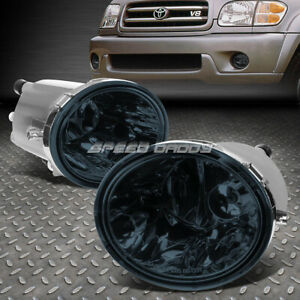 For 00 06 Toyota Tundra 07 Sequioa Smoked Lens Bumper Driving Fog Light Lamps