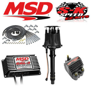 Msd 91513 Ignition Kit Black 6al 2 Box Distributor Wires Coil Big Block Chevy
