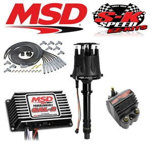Msd 92513 Ignition Kit Programmable 6al 2 Distributor Wires Coil Big Block Chevy
